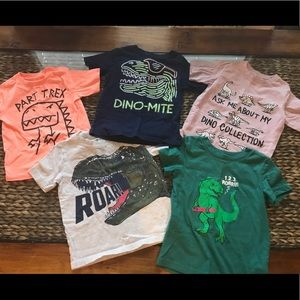 Dinosaur lot of toddler boys tee shirts 3t
